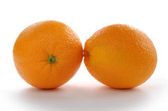 Tangerine cut. On white background royalty free stock image