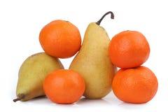 Tangerine eine Birne Lizenzfreie Stockfotografie