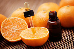 Tangerine essential oil Stock Photo