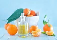 Tangerine essential oil Stock Photos