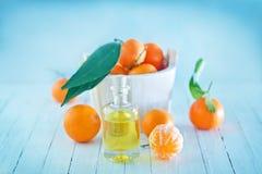 Tangerine essential oil Stock Images