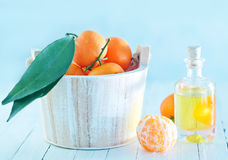 Tangerine essential oil Royalty Free Stock Photography