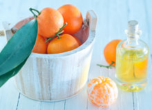 Tangerine essential oil Royalty Free Stock Photo