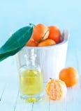 Tangerine essential oil Stock Image