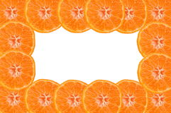 Tangerine frame Royalty Free Stock Images