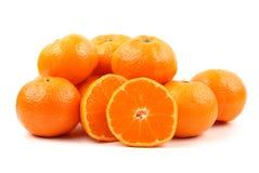 Tangerine fruit. Orange mandarin or tangerine fruit  on white background Royalty Free Stock Photo