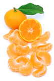 Tangerine fruit. Perfect tangerine fruit on a white background Stock Images