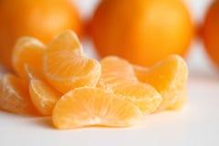Tangerine. Fruit , close-up cute half sour people sliced leaf fruits vibrant slice natural oranges vegetarian taste yummy dieting cut segment stock image