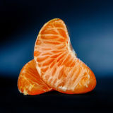Tangerine fruit part Royalty Free Stock Image