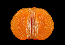 Tangerine fruit part Royalty Free Stock Photo