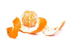 Tangerine fruit  with peeled Stock Images