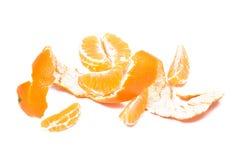 Tangerine fruit  with peeled Royalty Free Stock Image