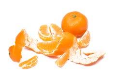 Tangerine fruit  with peeled Stock Image