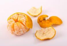 Fresh Tangerine. Tangerine fruits on white background Royalty Free Stock Photo
