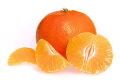 Tangerine getrennt lizenzfreies stockbild