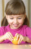 Tangerine Girl. Stock Photo
