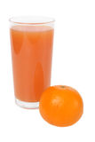 Tangerine and glass of juice Royalty Free Stock Photography