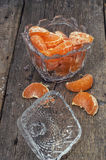 Tangerine in a glass vase Stock Image