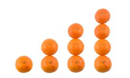 Tangerine graph Royalty Free Stock Photos
