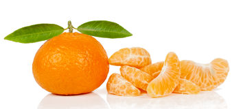 Tangerine and  slices Stock Photo