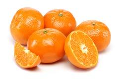 Tangerine Group. Tangerine isolated on white background royalty free stock photography