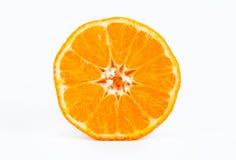 Tangerine halb Stockbild
