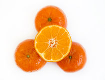 Tangerine half Royalty Free Stock Photos