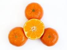 Tangerine half Royalty Free Stock Photo