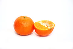 Tangerine with halve isolated on white background Royalty Free Stock Image