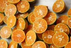 Tangerine halves Stock Image