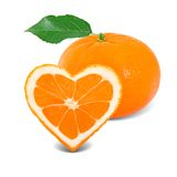 Tangerine heart Royalty Free Stock Photography