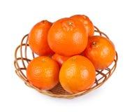 Tangerine im Korb Lizenzfreies Stockbild