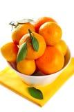 Tangerine In Bowl Royalty Free Stock Photos
