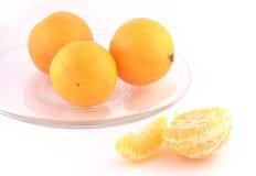 Tangerine isolated on white background. Tangerines isolated against the white background Royalty Free Stock Photo