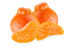 Tangerine isolated on white Stock Images