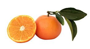 Tangerine and its section Royalty Free Stock Photo