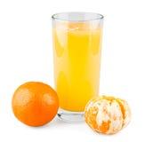 Tangerine juice. On white background royalty free stock image
