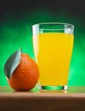 Tangerine and juice Royalty Free Stock Photo
