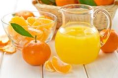 Tangerine juice Stock Photo