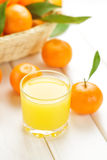 Tangerine juice Stock Images