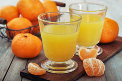 Tangerine juice Stock Photography