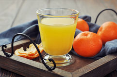 Tangerine juice Royalty Free Stock Images