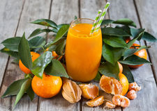 Tangerine juice Stock Images