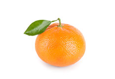Tangerine with leaf Stock Photos