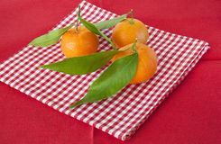 Tangerine with leaf Royalty Free Stock Photography