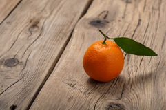 Tangerine with leaves Stock Photos