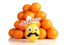 Tangerine and lemon Stock Photos
