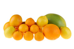 Tangerine, lemon and grapefruit Royalty Free Stock Photo
