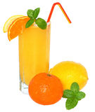 Tangerine and lemon juice Stock Images
