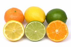 Tangerine, lemon and lime Royalty Free Stock Images